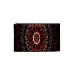 Circles Shapes Psychedelic Symmetry Cosmetic Bag (small)  by Alisyart