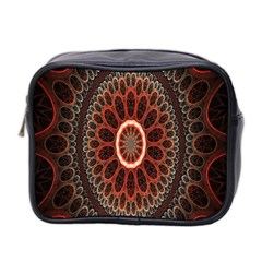 Circles Shapes Psychedelic Symmetry Mini Toiletries Bag 2 Side