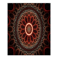 Circles Shapes Psychedelic Symmetry Shower Curtain 60  X 72  (medium)  by Alisyart