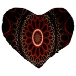 Circles Shapes Psychedelic Symmetry Large 19  Premium Heart Shape Cushions Front