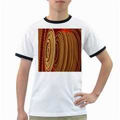 Circles Figure Light Gold Ringer T Shirts