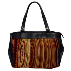 Circles Figure Light Gold Office Handbags