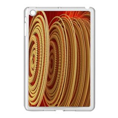 Circles Figure Light Gold Apple Ipad Mini Case (white)