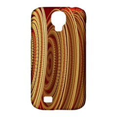 Circles Figure Light Gold Samsung Galaxy S4 Classic Hardshell Case (pc+silicone)