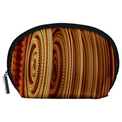 Circles Figure Light Gold Accessory Pouches (large)