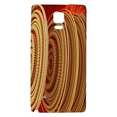 Circles Figure Light Gold Galaxy Note 4 Back Case by Alisyart