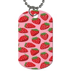Fruitb Red Strawberries Dog Tag (one Side)