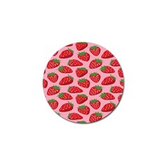 Fruitb Red Strawberries Golf Ball Marker