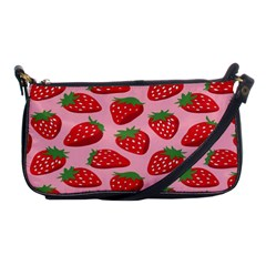 Fruitb Red Strawberries Shoulder Clutch Bags