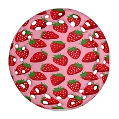 Fruitb Red Strawberries Ornament (round Filigree)