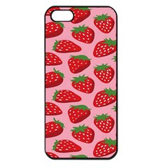Fruitb Red Strawberries Apple Iphone 5 Seamless Case (black)