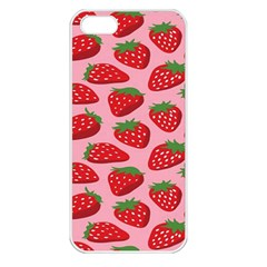 Fruitb Red Strawberries Apple Iphone 5 Seamless Case (white)