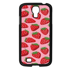 Fruitb Red Strawberries Samsung Galaxy S4 I9500/ I9505 Case (black) by Alisyart