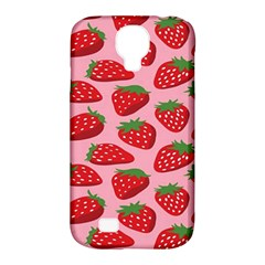 Fruitb Red Strawberries Samsung Galaxy S4 Classic Hardshell Case (pc+silicone) by Alisyart