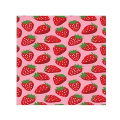 Fruitb Red Strawberries Small Satin Scarf (square)