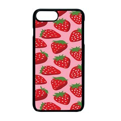 Fruitb Red Strawberries Apple Iphone 7 Plus Seamless Case (black)