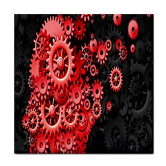 Gold Wheels Red Black Tile Coasters
