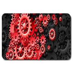 Gold Wheels Red Black Large Doormat