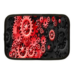 Gold Wheels Red Black Netbook Case (medium)