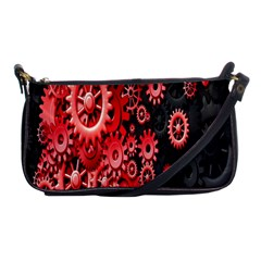 Gold Wheels Red Black Shoulder Clutch Bags