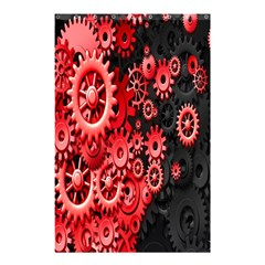 Gold Wheels Red Black Shower Curtain 48  X 72  (small)  by Alisyart