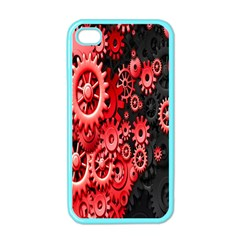 Gold Wheels Red Black Apple Iphone 4 Case (color)