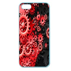 Gold Wheels Red Black Apple Seamless Iphone 5 Case (color)
