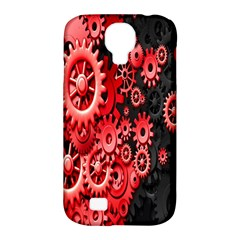 Gold Wheels Red Black Samsung Galaxy S4 Classic Hardshell Case (pc+silicone)