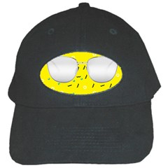 Glasses Yellow Black Cap
