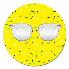 Glasses Yellow Magnet 5  (round)