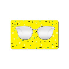 Glasses Yellow Magnet (name Card)