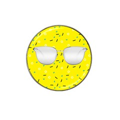 Glasses Yellow Hat Clip Ball Marker (4 Pack)