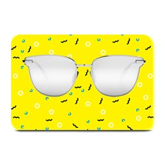 Glasses Yellow Plate Mats