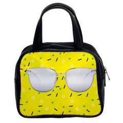 Glasses Yellow Classic Handbags (2 Sides) by Alisyart