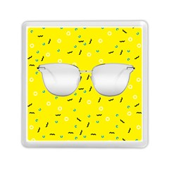 Glasses Yellow Memory Card Reader (square)
