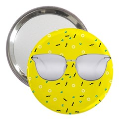 Glasses Yellow 3  Handbag Mirrors