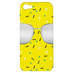 Glasses Yellow Apple Iphone 5 Hardshell Case by Alisyart