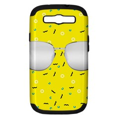 Glasses Yellow Samsung Galaxy S Iii Hardshell Case (pc+silicone)