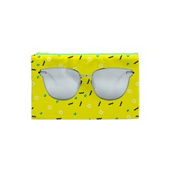 Glasses Yellow Cosmetic Bag (xs)