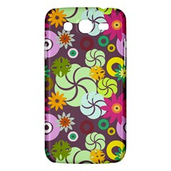 Floral Seamless Rose Sunflower Circle Red Pink Purple Yellow Samsung Galaxy Mega 5 8 I9152 Hardshell Case  by Alisyart