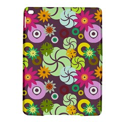Floral Seamless Rose Sunflower Circle Red Pink Purple Yellow Ipad Air 2 Hardshell Cases