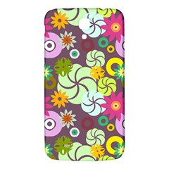 Floral Seamless Rose Sunflower Circle Red Pink Purple Yellow Samsung Galaxy Mega I9200 Hardshell Back Case by Alisyart