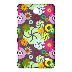 Floral Seamless Rose Sunflower Circle Red Pink Purple Yellow Samsung Galaxy Tab 4 (8 ) Hardshell Case