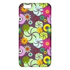 Floral Seamless Rose Sunflower Circle Red Pink Purple Yellow Iphone 6 Plus/6s Plus Tpu Case