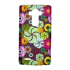 Floral Seamless Rose Sunflower Circle Red Pink Purple Yellow Lg G4 Hardshell Case