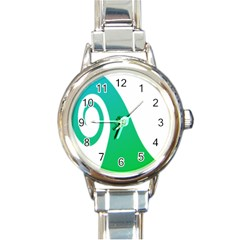 Line Green Wave Round Italian Charm Watch