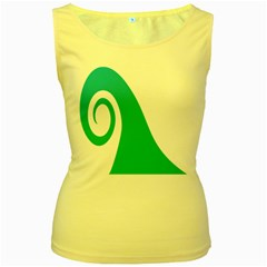 Line Green Wave Women s Yellow Tank Top