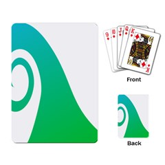 Line Green Wave Playing Card
