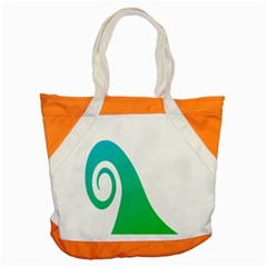 Line Green Wave Accent Tote Bag
