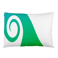 Line Green Wave Pillow Case